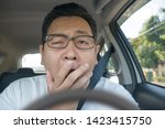 portrait of funny asian male... | Shutterstock . vector #1423415750