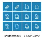 paperclip file icons on blue...