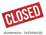 closed rubber stamp. red closed ... | Shutterstock .eps vector #1423436120