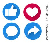 button icons like on social... | Shutterstock .eps vector #1423438460