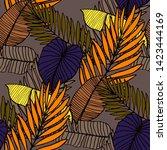 hand drawn seamless pattern...   Shutterstock .eps vector #1423444169
