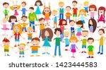 cartoon illustration of happy... | Shutterstock .eps vector #1423444583