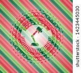 desk lamp icon inside christmas ... | Shutterstock .eps vector #1423445030