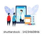 medical medication flat... | Shutterstock .eps vector #1423460846