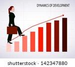 business woman going up | Shutterstock .eps vector #142347880
