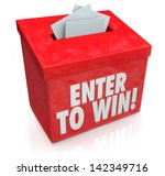 enter to win words on a red box ... | Shutterstock . vector #142349716