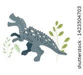 Dinosaur Allosaurus  Hand Draw...