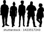 group of people. crowd of... | Shutterstock . vector #1423517243