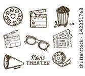 illustration of icon of cinema  ... | Shutterstock .eps vector #142351768