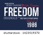 freedom typography for t shirt... | Shutterstock .eps vector #1423519370