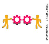 colored business teamwork icon... | Shutterstock .eps vector #1423525583