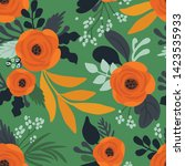 seamless vector floral pattern. ...   Shutterstock .eps vector #1423535933