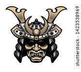 samurai warrior mask.... | Shutterstock .eps vector #1423538969