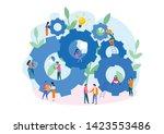 teamwork on performance... | Shutterstock .eps vector #1423553486