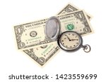 time is money concept. two... | Shutterstock . vector #1423559699