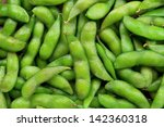 edamame soy beans background   Shutterstock . vector #142360318