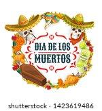day of dead  dia de los muertos ...   Shutterstock .eps vector #1423619486