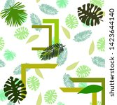 the leaves are tropical plants. ... | Shutterstock .eps vector #1423644140