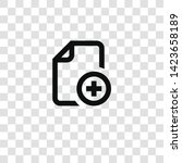 add file icon from... | Shutterstock .eps vector #1423658189