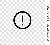 warning icon from miscellaneous ... | Shutterstock .eps vector #1423662560