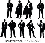 silhouette of elegant young... | Shutterstock . vector #14236732