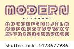 a sleek and modern alphabet... | Shutterstock .eps vector #1423677986