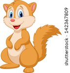 cute squirrel cartoon   Shutterstock . vector #142367809