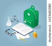 vector isometric school... | Shutterstock .eps vector #1423683380