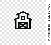 barn icon from miscellaneous... | Shutterstock .eps vector #1423687400