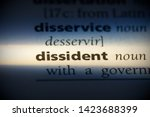 Small photo of dissident word in a dictionary. dissident concept.