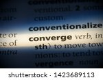 Small photo of converge word in a dictionary. converge concept.
