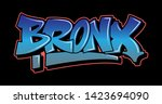 bronx new york graffiti... | Shutterstock .eps vector #1423694090