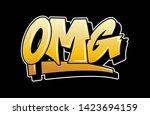 graffiti gold inspiration omg... | Shutterstock .eps vector #1423694159