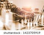 stock market or forex trading... | Shutterstock . vector #1423705919