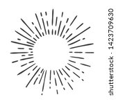hand drawn sun burst doodle... | Shutterstock . vector #1423709630