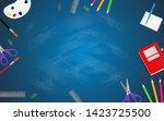 back to school with school... | Shutterstock .eps vector #1423725500