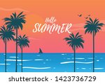 sillhouate land scape view of... | Shutterstock .eps vector #1423736729