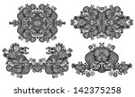 four ornamental floral... | Shutterstock .eps vector #142375258