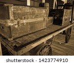 Vintage Luggage Staged On A...