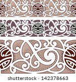 maori styled seamless pattern.... | Shutterstock .eps vector #142378663