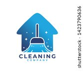cleaning house logo icon... | Shutterstock .eps vector #1423790636