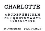 trendy font. minimalistic style ... | Shutterstock .eps vector #1423792526