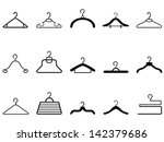 clothes hangers icon | Shutterstock .eps vector #142379686