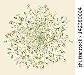 round floral pattern | Shutterstock .eps vector #142380664