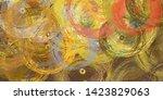 2d illustration. abstract... | Shutterstock . vector #1423829063