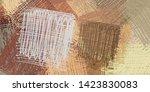 2d illustration. abstract... | Shutterstock . vector #1423830083