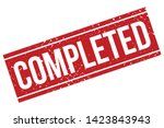 completed rubber stamp. red... | Shutterstock .eps vector #1423843943