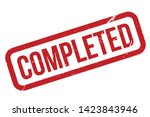 completed rubber stamp. red... | Shutterstock .eps vector #1423843946