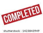 completed rubber stamp. red... | Shutterstock .eps vector #1423843949