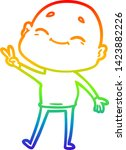 rainbow gradient line drawing... | Shutterstock .eps vector #1423882226